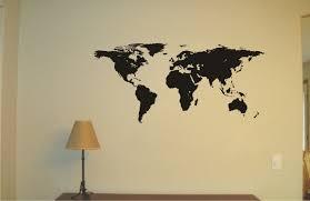 Map Tattoo World Map Vinyl Decal Wall Sticker Wall Tattoo