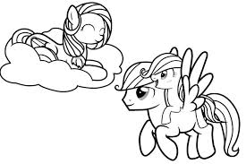 print printable pony friendship magic coloring pages