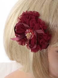 bow for hair beaded burgundy chiffon ruffle bow hair clip accessory blue