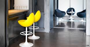 Yellow Bar Table Bar Stools Adjustable Bar Stools