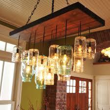How To Mason Jar Chandelier Mason Jar Chandelier Rectangle Dirk Nykamp Design Touch Of