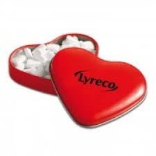 heart shaped items promotional heart shaped tin with heart peppermint