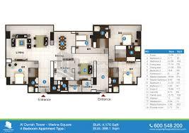 floor plan al durrah tower marina square al reem island