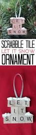 let it snow u2013 scrabble tile ornament 11 easy last minute diy