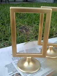 silver frames for wedding table numbers cadre ikea à peindre en couleur or idée mariage pinterest