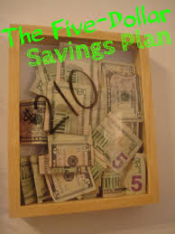 the five dollar savings plan savings plan budgeting and saving