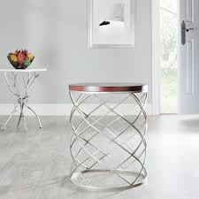 Drum Accent Table by Fox2506a Accent Tables Furniture By Safavieh