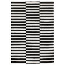 Area Rug Black And White Stockholm Rug Flatwoven 5 7 X7 10 Ikea