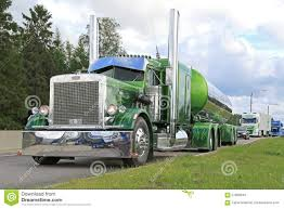 peterbilt show trucks green peterbilt 359 semi tank truck 1971 editorial stock image