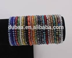 elastic bead bracelet images 4mm briolette crystal faceted rondelle beads bracelets strand jpg