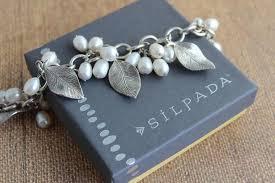 silver leaf bracelet images Silpada sterling silver pearl and leaf b1631 bracelet tradesy jpg