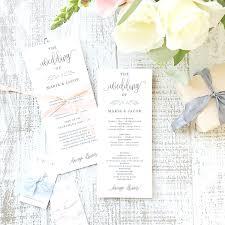 tea length wedding programs template calligraphy template printable wedding program instant