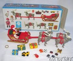 rare playmobil santa claus u0026 reindeer magic sleigh christmas
