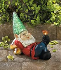 lazy gnome solar garden statue wholesale at koehler home decor