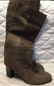 s suede boots size 9 michael kors heel leather suede boots size 9 olive green