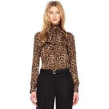 michael kors blouses s leopard print bow blouse michael michael kors polyvore