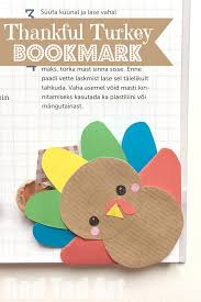 turkey bookmark corner diy ted s