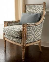horchow gray zebra print wingback chair