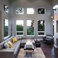 Living Room No Rugs Contemporary Family Room Design Family Room Contemporary With Gray