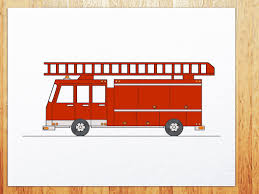 how to draw fire truck how to draw transportations pinterest