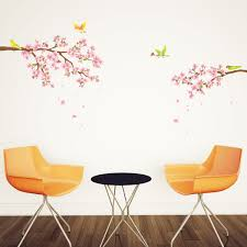 decowall dw 1303 cherry blossoms and birds kids wall decals wall