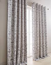 Purple Grey Curtains Woven Floral Grey Purple Fully Lined Ring Top Curtains 8