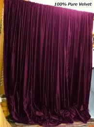 Velvet Curtain Club Plum Color Royal Pure Velvet Curtains Drapes Panel By Lavishmart