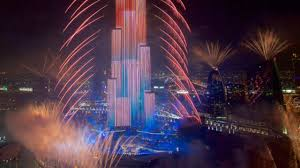 Burj Khalifa Burj Khalifa Fireworks Downtown Dubai 2017 New Year U0027s Fireworks
