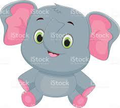 cute baby elephant cartoon stock vector art 533458798 istock