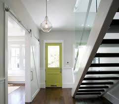 door accent colors for greenish gray interior designs add drama to the entry way with a green door set