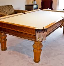 Antique Brunswick Pool Tables by Golden Oak Brunswick Pool Table And Accessories Ebth