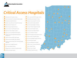 County Map Of Indiana Critical Access Hospitals Map