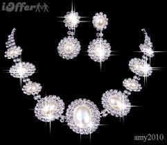 diamond necklace earring set images Nl classic style pearl diamond necklace earrings set for sale jpg