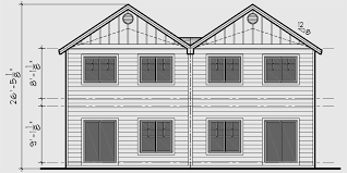Row House Front Elevation - duplex house plans narrow row house plans d 541