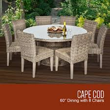 Outdoor Patio Dining by Tk Classics Cape Cod Vintage Stone 60 Inch Outdoor Patio Dining