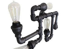 industrial pipe light fixture amazon com industrial pipe lighting wall sconce light vintage