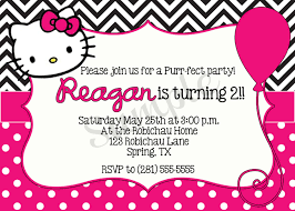 Free Printable Halloween Party Invitations Templates by Hello Kitty Birthday Invitations Printable Free U2013 Invitation