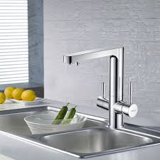 High End Chrome Brass Vessel Mount With Drink Water Kitchen Sink - Kitchen sink drink
