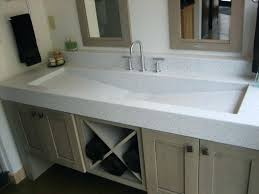 trough sink two faucets undermount trough bathroom sink with two faucets joomla planet