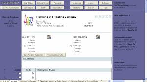 invoice template for plumbing and heating service company excel
