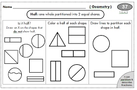 fraction worksheets 1st grade u0026 february no prep packet 1st grade