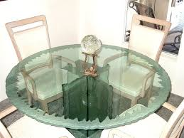 Round Glass Table Tops by Round Glass Table Sans Soucie Art Glass