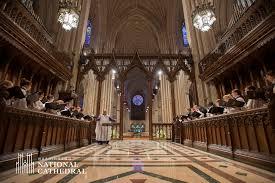 National Cathedral Interior Weekday Evensong Washington National Cathedral