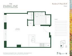 floor plan studio the parkline