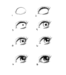 how to draw anime eyes step by step for beginners drawing