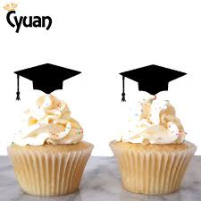 graduation cap cake topper cyuan 12pcs black graduation cap cake topper classic strew decor