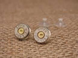 bullet stud earrings sureshot jewelry sureshot jewelry bullet studs 357 sig