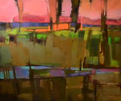 sunset on a countryroad by jennifer evenhus oil 30 x 36 find this pin and more on semi abstract landscape painting