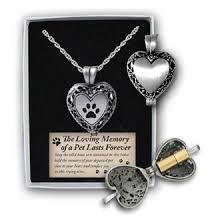 Personalized Paw Print Necklace Pet Paw Print Locket Ash Holder Urn Personalize Engrave