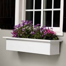 Wooden Window Flower Boxes - new castle pvc flower boxes white window boxes window planter